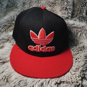 Red and Black Adidas Cap